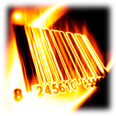 Blazing Barcode, Large